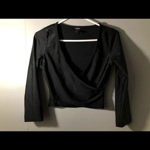 Black dress crop top